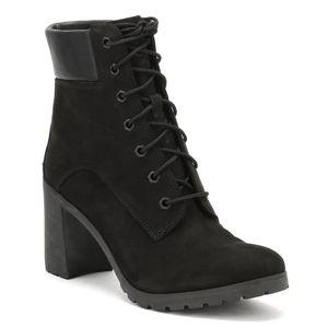 Timberland Damen Schnürstiefeletten Schwarz Schuhe, Größe:37 1/2