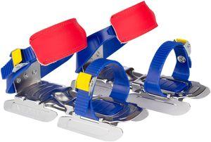 Nijdam Kinder Verstellbare Gleitschuhe Uni Kobaltblau/Gelb/Rot Schuhe, Größe:OneSize