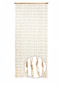 Türvorhang CIRCLES Papier beige 36 Stränge 90x200 cm