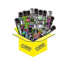 10 x Clipper Collector Mix mit Hanfmotiven / Weedmotiven