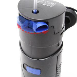 SunSun CUP-807 4 in 1 Aquariumpumpe 700 L/h 10 W mit 7 W UVC Klärer und Filtermaterial