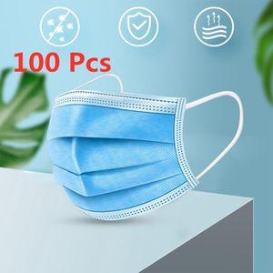 100 stk Einweg-Kindermaske 3-Lagig Kinder Gesichtsmaske Mit schmelzgeblasenem Tuch Mundschutz Schutzmaske