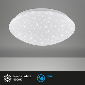 LED Badlampe Deckenleuchte mit Sternenhimmel IP44 Ø 28cm 12 W Briloner Leuchten