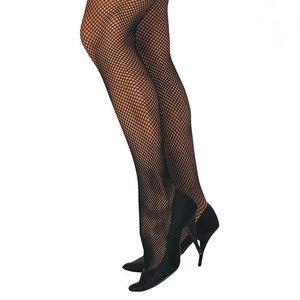 Karneval Zubehör Netz Strumpfhose schwarz fein für Fasching Kostüme