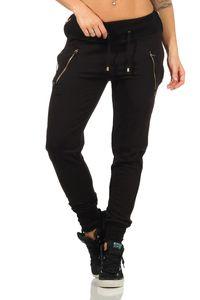 Damen Jogginghose Freizeithose,  Schwarz XL