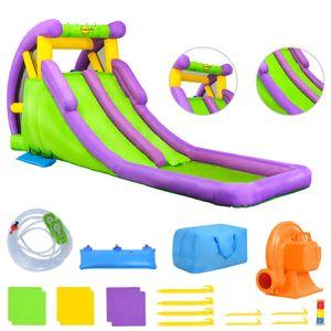 Happy Hop Aufblasbare Wasserrutsche mit Planschpool 600×215×255cm PVC