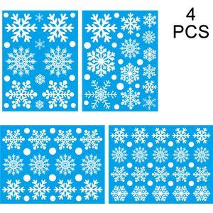 100 Schneeflocken Fensterbild, Fensterbilder Weihnachten Selbstklebend, Winter-deko Weinachts Dekoration, Weihnachten Fenstersticker, Winter Deko Weihnachtsdeko