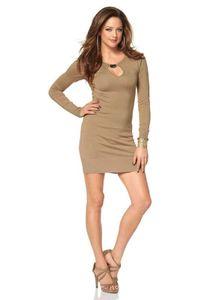 Melrose Damen Strickkleid, beige, Größe:38
