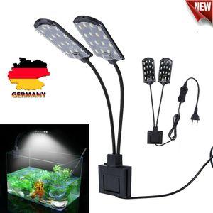Melario LED Aquarium Beleuchtung Licht Aquarien Wasserdichtes Wachsen Lampe mit Clip