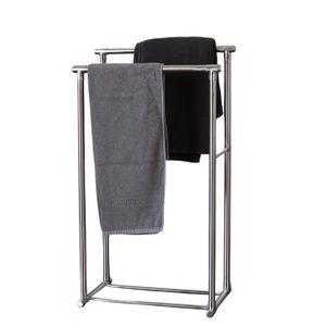 Handtuchständer STRI Aluminium Antik Design Handtuchhalter silber