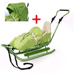 Luxus Schlitten silber-grün incl. Verdeck NEU