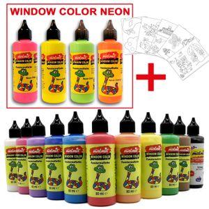 Window Color Fenstermalfarben 15 Farben + Malvorlage