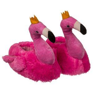 Plüsch Hausschuhe Flamingo für Kinder, Größe:33/34