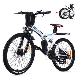 E-Trekkingrad Elektrofahrrad E-bike Mountainbike Faltbares mit LED Fahrradlicht, 26 Zoll City Bike E-MTB Elektrisches Fahrrad mit 36V 350W und 21-Gang,für Damen, Herren, Unisex