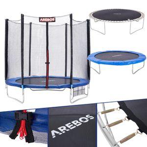Arebos Trampolin mit Leiter und Sicherheitsnetz 244 cm - direkt vom Hersteller