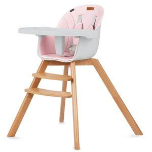Kinderstuhl Fütterungsstuhl Hochstuhl fur esstisch Holz Kidwell NOBIS Rosa