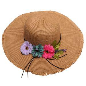 Damen faltbarer Sonnenhut Strohhut Sommerhut Schlapphut Sommer Strand Sonne Hüte breite krempe für Freizeit Urlaub Party Farbe Khaki