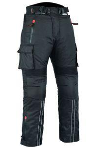BULLDT Motorradhose Cargo Textilhose Cargohose Schwarz, Größe:52/L