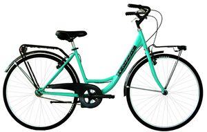 26 Zoll Cityrad Damen Coppi Monotubo Single Speed Grün 44 cm Rahmengröße