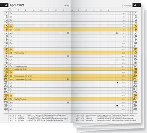 """rido idé Kalender-Einlage """"Miniplaner d12"""" 87 x 153 mm 2021"""