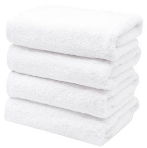 4er Set Handtücher, 100% Baumwolle, 50x100 cm, weiß, extra flauschig