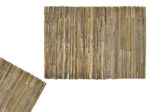 Sichtschutzmatte aus Bambus 1,5x5 m Bambusmatte Windschutz Zaun für Garten Balkon Terrasse 12120