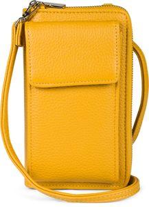 styleBREAKER Damen Mini Bag Geldbörse mit Handy Fach und RFID Schutz, Umhängetasche, Handytasche, Crossbag 02012362, Farbe:Schwarz