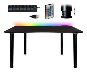 Gaming Computertisch Schwarz Schreibtisch Büro PC Tisch Esstisch zwei Farbe HUB USB