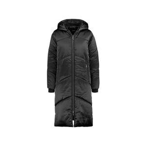 TAIFUN Stepp-Mantel langer Damen Wohlfühl-Mantel mit satinierter Optik Schwarz, Größe:40