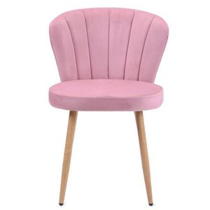 Vintager Retro Stuhl Polstersessel Samt Lounge Sessel Clubsessel Fernsehsessel Rosa