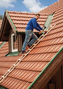 Holz-Dachleiter Mod. S11101  - Sprossenzahl: 12, Länge m: 3,35