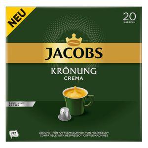 Jacobs Kaffeekapseln Krönung Crema, 20 Nespresso®* kompatible Kapseln, 1 x 20 Getränke
