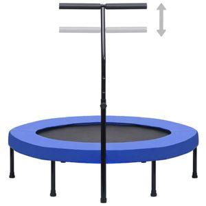 yocmall Fitness Trampolin mit Griff und Sicherheitspolster 122 cm