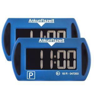 2X Needit Park Mini Blau elektronische Parkscheibe Digitale Parkuhr mit offizieller Zulassung des Kraftfahrtbundesamtes 2er Sparset