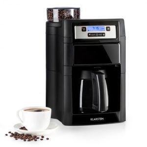 Klarstein Aromatica II Filter-Kaffeemaschine mit Mahlwerk (Thermoskanne, 24h-Timer, 1.25 Liter, 1000 Watt, inkl. Permanent- und Aktivkohle Filter) schwarz