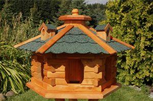 Vogelhäuschen, Vogelhaus mit Bitumschindeln, behandelt, V16 gneu