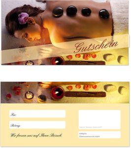 50 Stück Geschenkgutscheine (Wellness-602) - Gutscheinkarten Gutscheine für Bereiche Massage, Wellness, Erholung, Entspannung oder Kosmetik und Reisen