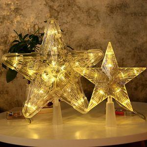 Tannenbaumspitze LED Weihnachtsbaumspitze Lampe Stern für Weihnachtsbaumspitze Christbaumspitze Licht - #2 Warm Weiß 10Lights