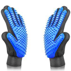 Fellpflegehandschuh Haustier Bürste Handschuh für Hunde und Katze Massagehandschuh - 2er Pack