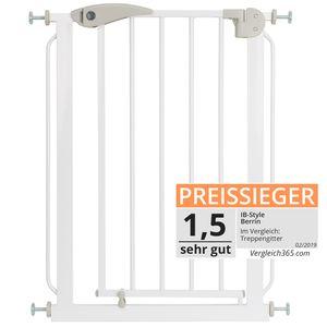 ib style® BERRIN Treppengitter 58-66 cm Türschutzgitter   verlängerbar mit separat erhältlichen Verlängerugen bis 175cm Absperrgitter