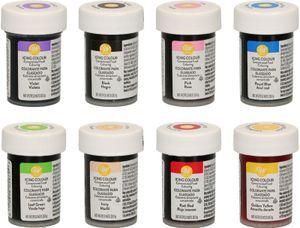 Wilton Lebensmittelfarben/Glasurfarben Spar-Set 8 x 28 g