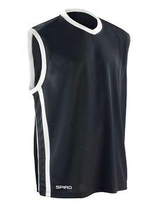 Herren Basketball Quick Dry Top T-Shirt - Farbe: Black/White - Größe: XS