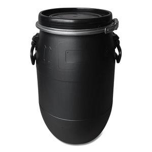 30 Liter Deckelfass, Kunststofffass, Fass, Plastikfass Farbe schwarz (30 D sw)