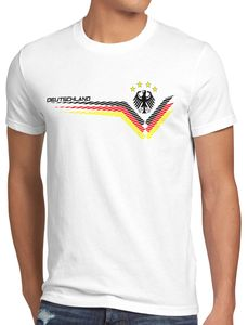 style3 Deutschland EM 2021 2022 Herren T-Shirt Germany Fußball Europameisterschaft Trikot, Größe:4XL, Farbe:Weiß