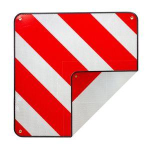 2 in 1 Warntafel rot/weiß Spanien und Italien 50x50cm
