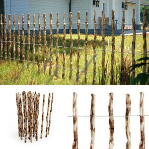Staketenzaun Holzzaun Gartenzaun Haselnuss Lattenabstand 7-8 cm 500cm 100cm hoch