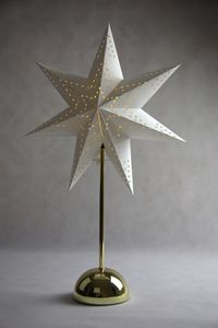 """LED-Standstern """"CellCandle"""", messing/weiss"""