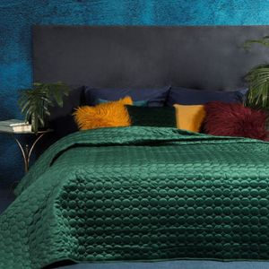 TAGESDECKE LILIAN dunkelgrün 220x240 cm dunkelgrün