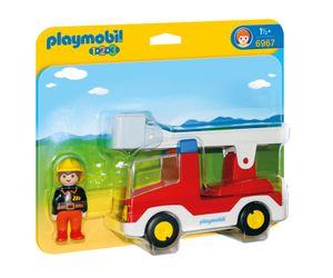 PLAYMOBIL 1.2.3. 6967 Feuerwehrleiterfahrzeug