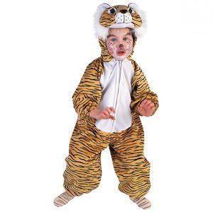 Kinder Tiger Plüschkostüm # Karneval Fasching Tier Kostüm # Gr. 104